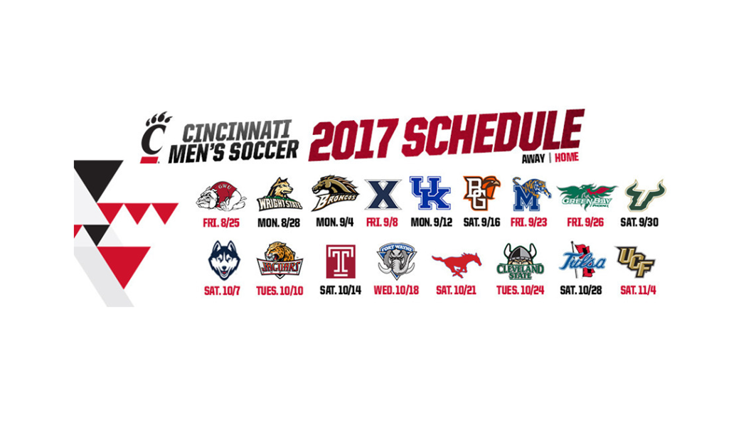 ten home dates highlight 2017 men's soccer slate - university of