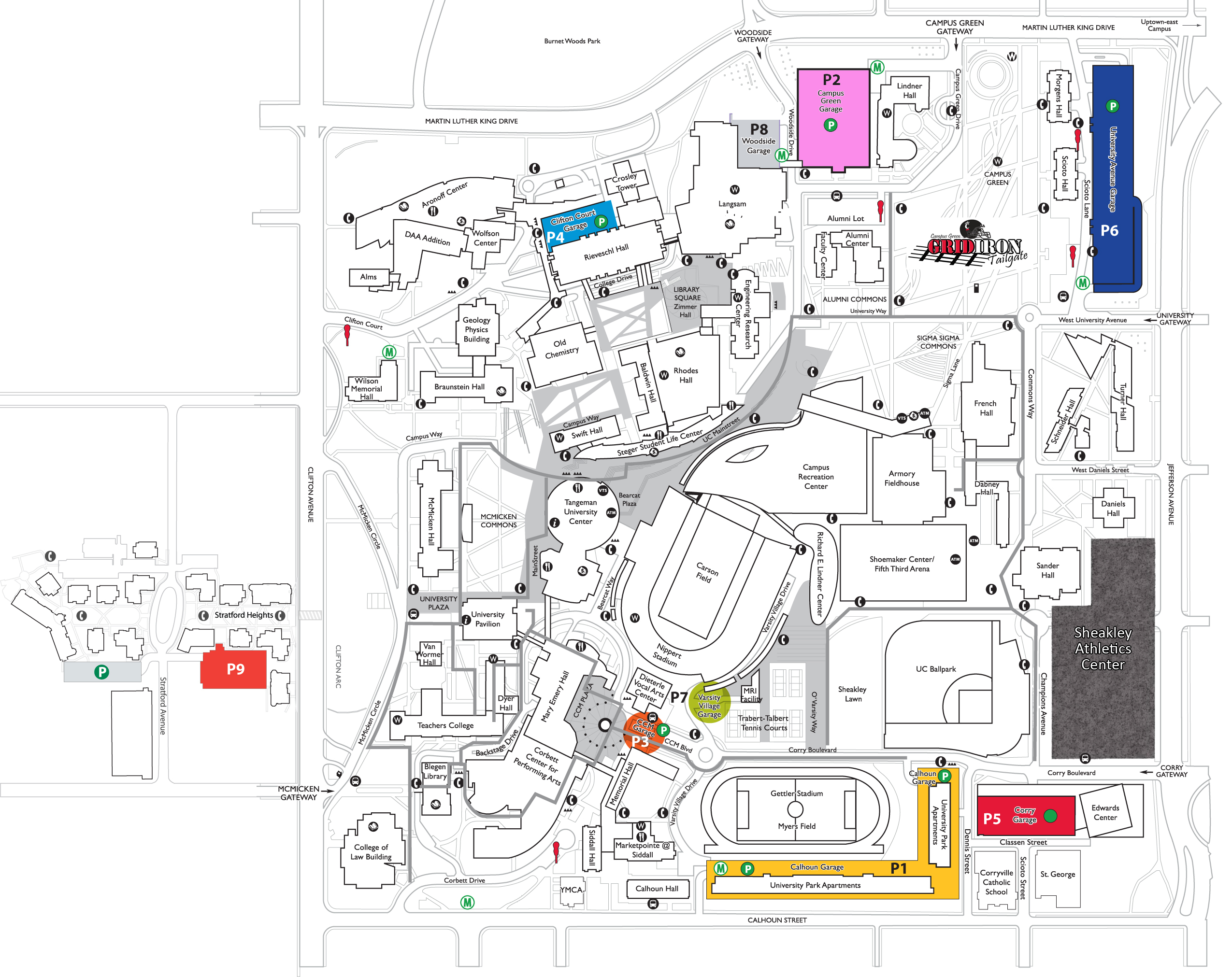 Under Armour Campus Map.University Of Cincinnati Athletics
