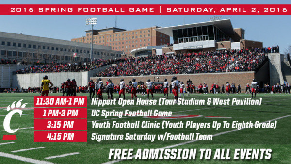 Football To Hold Nippert Open House, Spring Game & Youth
