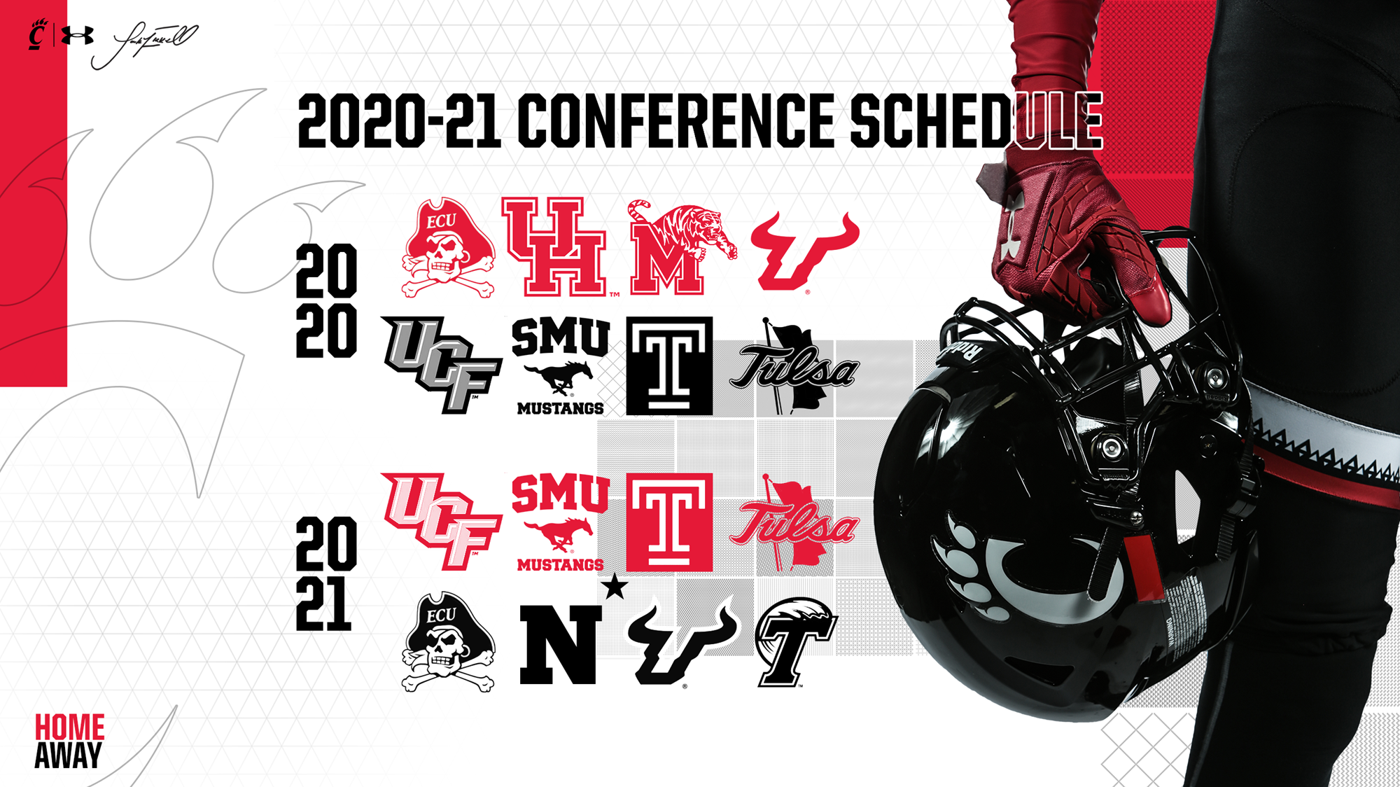 American Announces 2020 21 Football Scheduling Format University Of Cincinnati Athletics